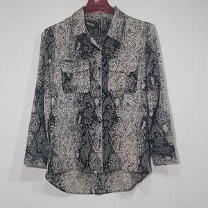 W G B by Walter G Baker animal print dress blouse